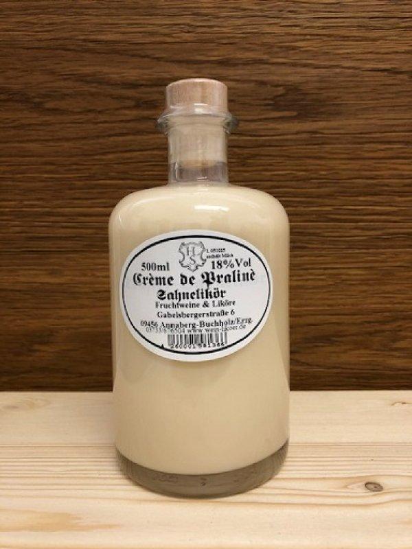 Creme de Praline - Sahne-Likör 18% vol