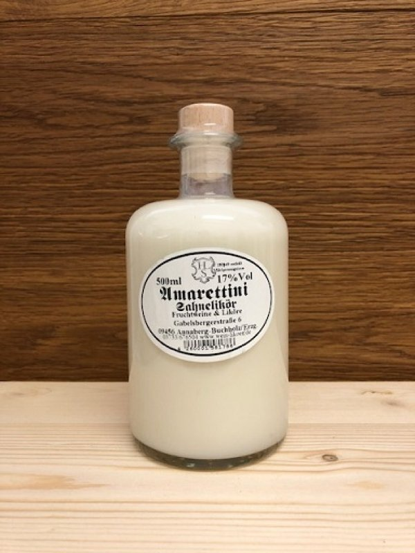 Amarettini-Sahnelikör 17% vol
